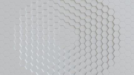 Fotobehang - White background texture. 3d illustration, 3d rendering