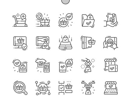 Future shoping Well-crafted Pixel Perfect Vector Thin Line Icons 30 2x Grid for Web Graphics and Apps. Simple Minimal Pictogram