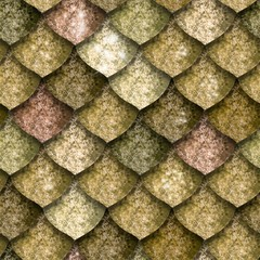 Seamless texture of dragon scales, reptile skin background