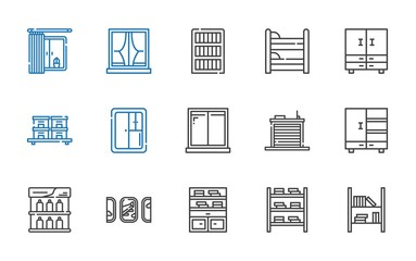 shelf icons set