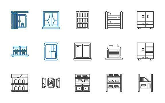 shelf icons set