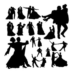 Wedding dance silhouettes. Good use for symbol, logo, web icon, mascot, sign, or any design you want.