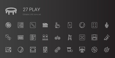 play icons set