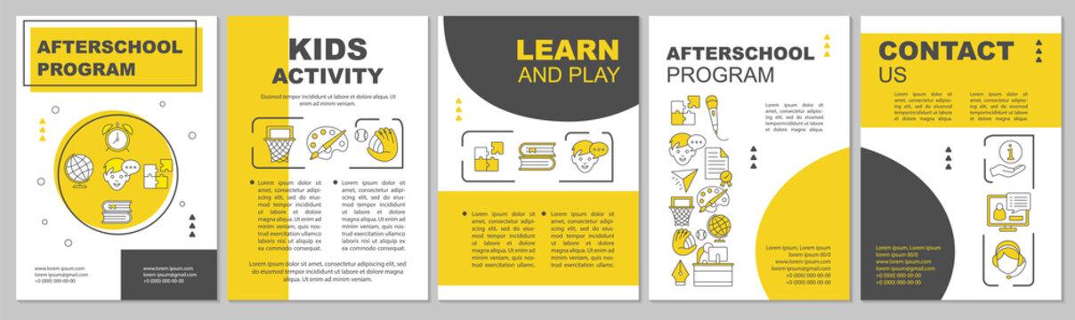Afterschool program brochure template layout