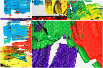 Fotobehang Graffiti collage abstract artwork as background