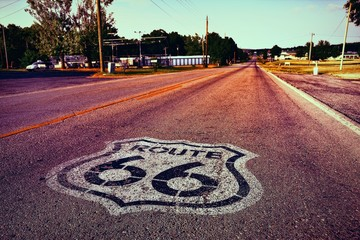 Foto op Canvas Route 66 U.S. Route 66 highway.