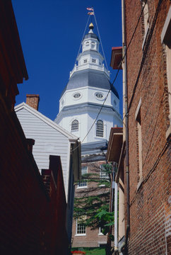 Maryland State House in Annapolis, Maryland, USA