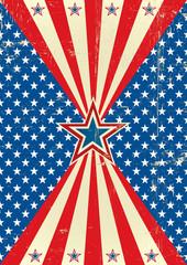 American poster circle frame