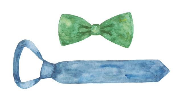 Watercolor men's neck accessories.