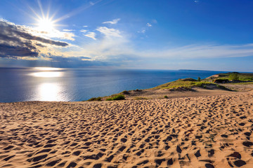 Lake Michigan Overlook in Late Afternoon