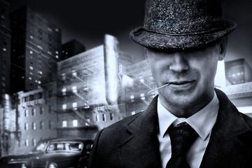vintage italian mafia gangster in 1930s