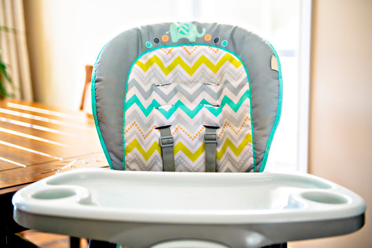 A high chair for baby on the kitchen at home