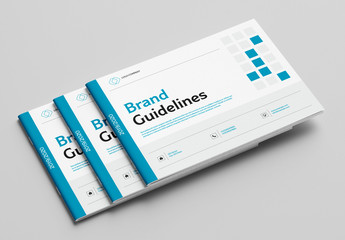 Brand Guidelines Booklet with Blue Accents
