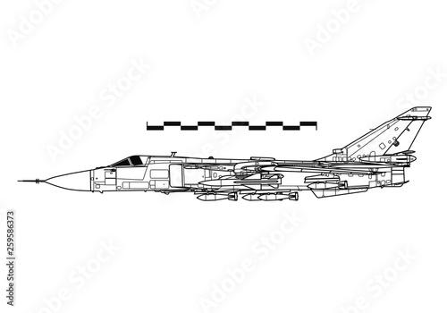 Sukhoi Su-24 Fencer  Outline drawing