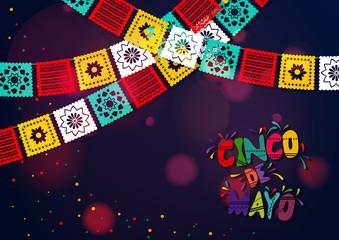 Cinco De Mayo vector design with sombrero.