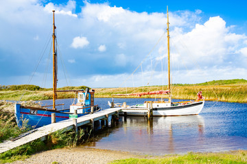 Abandoned port in Ringkobing Fjord, Jutland, Denmark