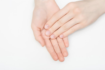 Nail Care And Manicure Of Beautiful Female Hands