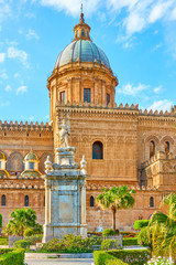 Wall Mural - Cathedral of the Assumption of Virgin Mary in Palermo