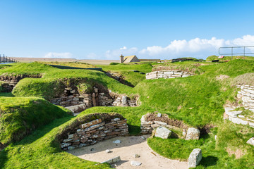 Scara Brae Neolithic Site - Orkney Islands, Scotland Wall mural