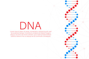 DNA strand symbol. DNA genetics. Vector illustration.