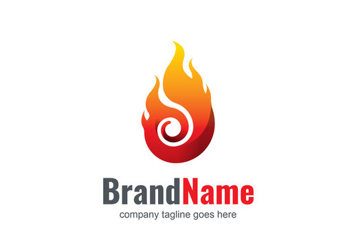 Flame Vector Logo Layout