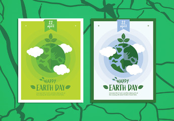 Happy Earth Day Poster Layout