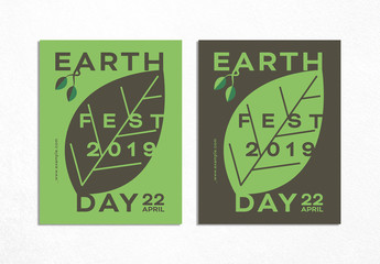 Typographic Design Layout for Earth Day