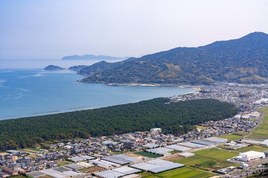 [佐賀県]鏡山からの虹の松原風景
