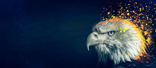 Eagle painting background Fototapete