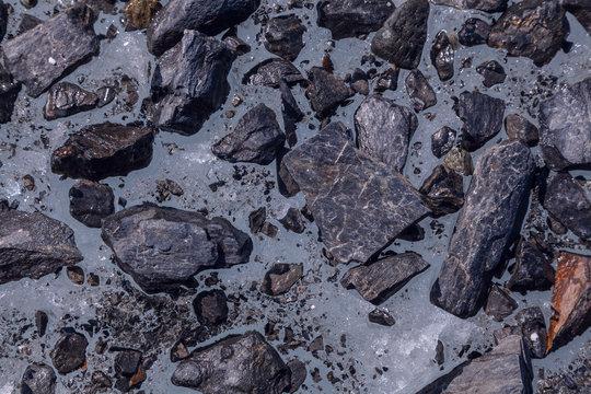 Matanuska Glacier Rocks and Ice