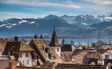 View of Rapperswil from the castle walls