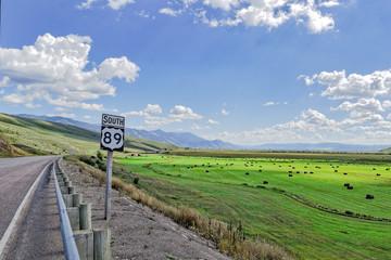 Farm along Highway 89 in Utah