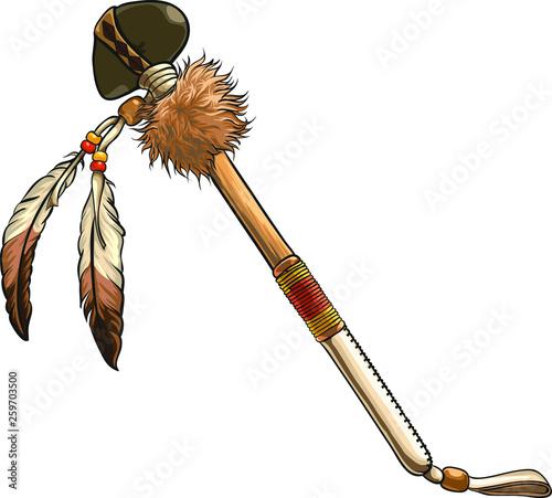 Hand drawn native american axe vector illustration  American