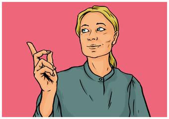 Selbstbewusste Geschäftsfrau hält eine Präsentation
