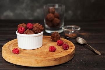 delicious handmade chocolates, truffle, chocolate dessert, dark chocolate