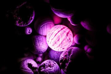 Lighted Purple Balloons
