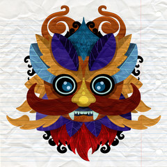 23d12800470d3 Hand drawn illustration. Ornamental element. tattoo devil mask ...