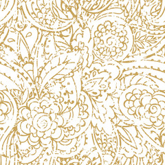 Vintage seamless pattern. paisley print. Traditional ethnic ornament. Asian motifs for fashion, interior, cover, textile, wrapping, scrapbook, background. Boho style