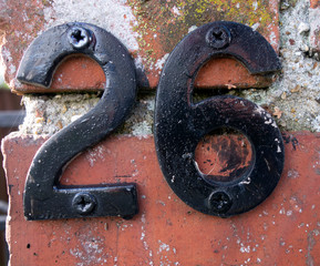 Written Wording in Distressed State Typography Found Number