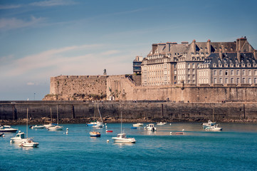 Wall Mural - Saint Malo cityscape, Brittany, France