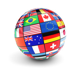 International World Flags Globe