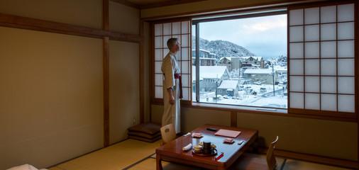 Fuji Mount at the window, Japan