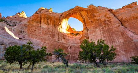 Window Rock in morning light, Arizona, USA