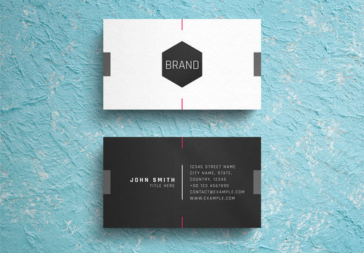 Minimalist Black and White Business Card Layout