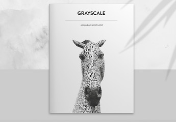 Brochure Layout with Black and White Accents
