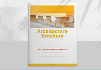 Architecture Brochure Layout with Yellow Accents
