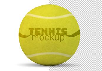 Tennis Ball Isolsated on White Mockup