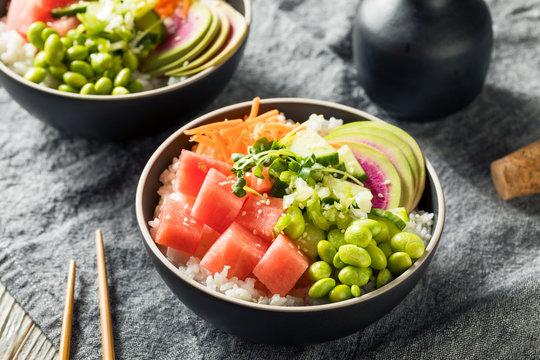 Homemade Vegan Poke Bowl