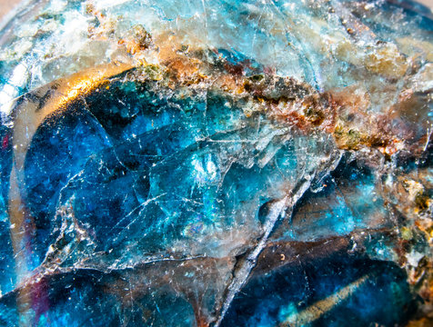 Extreme Close Up Of Blue Quartz Crystal