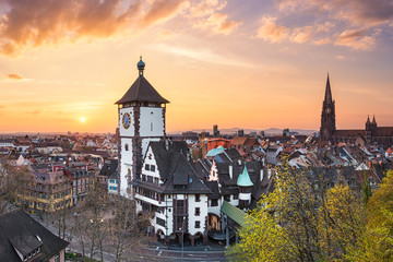Sunset in Freiburg im Breisgau, Germany